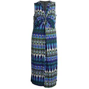 1x Multi Color Sleeveless Twist Front Maxi Dress